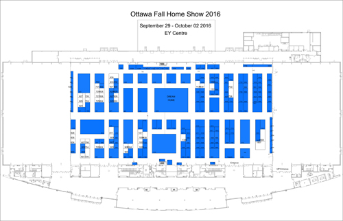 Ottawa Fall Home Show Floor plan