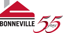 Bonneville Logo 55years